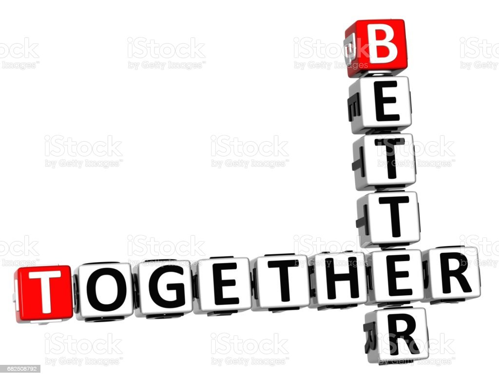 3D Better Together Crossword royalty-free stock photo