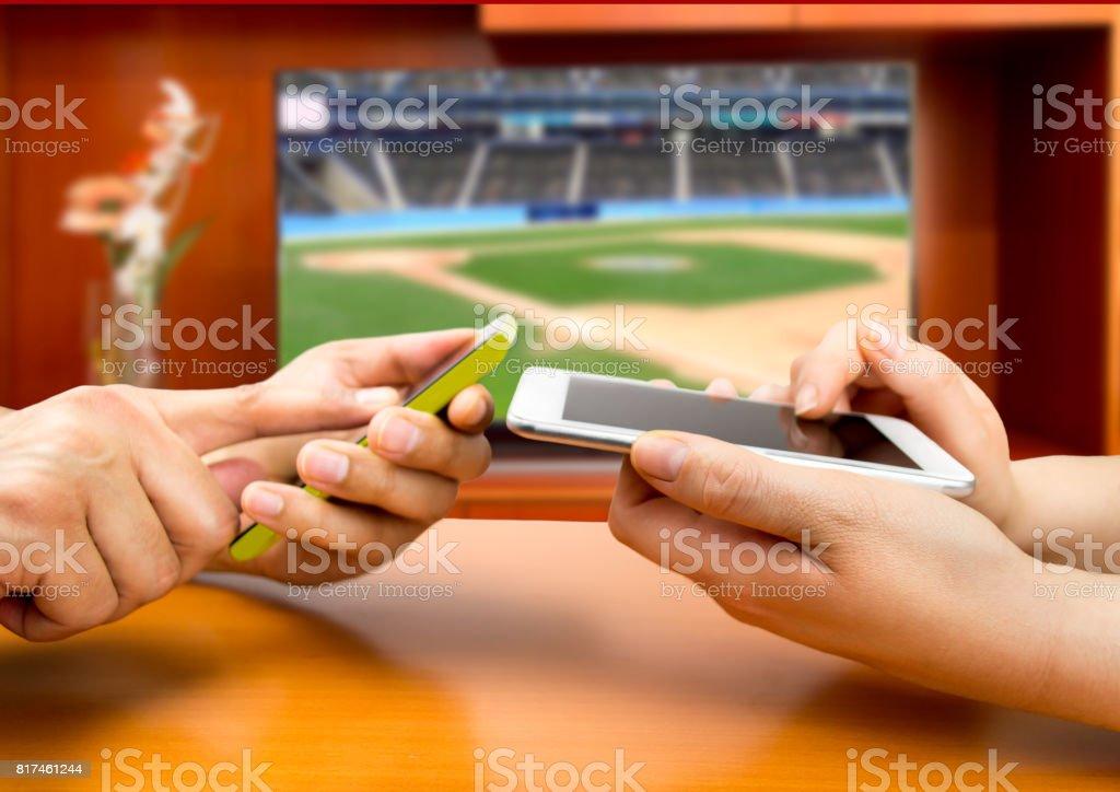 betting in baseball stock photo