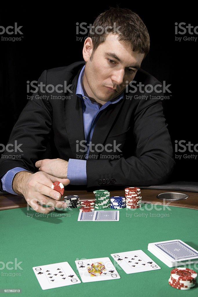 Betting in casino royalty-free stock photo