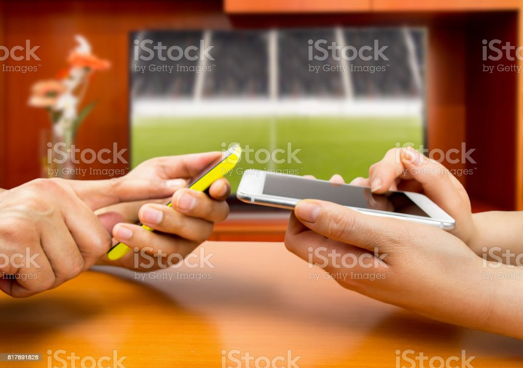 betting in football - Foto stock royalty-free di Adulto