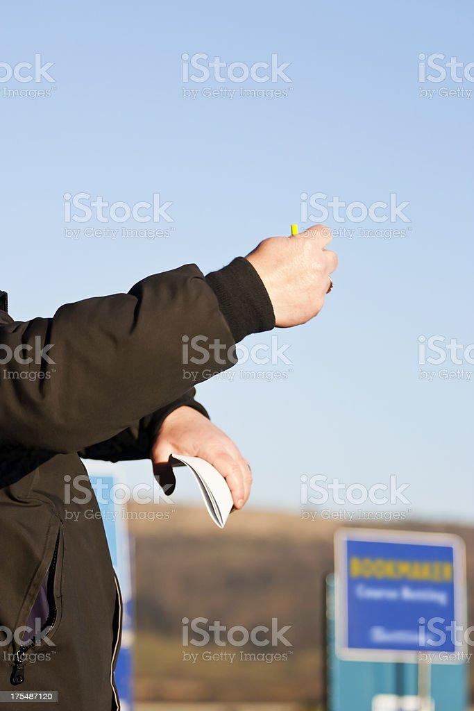 Betting Tic Tac Man stock photo