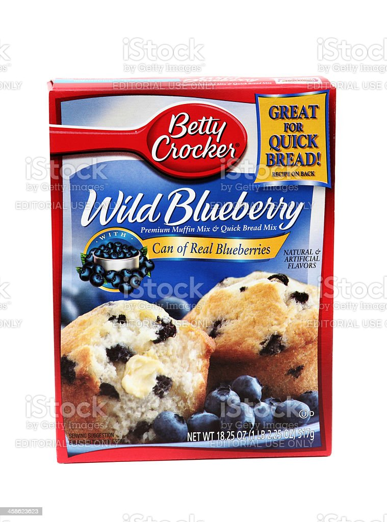 Betty Crocker boxed blueberry muffin mix royalty-free stock photo