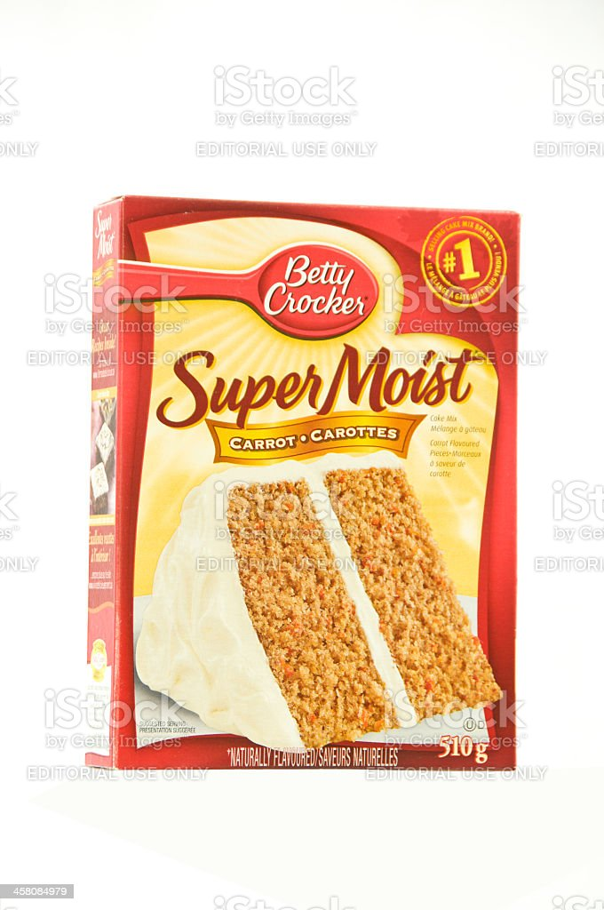 Betty Crocker Cake Mix Isolated stock photo