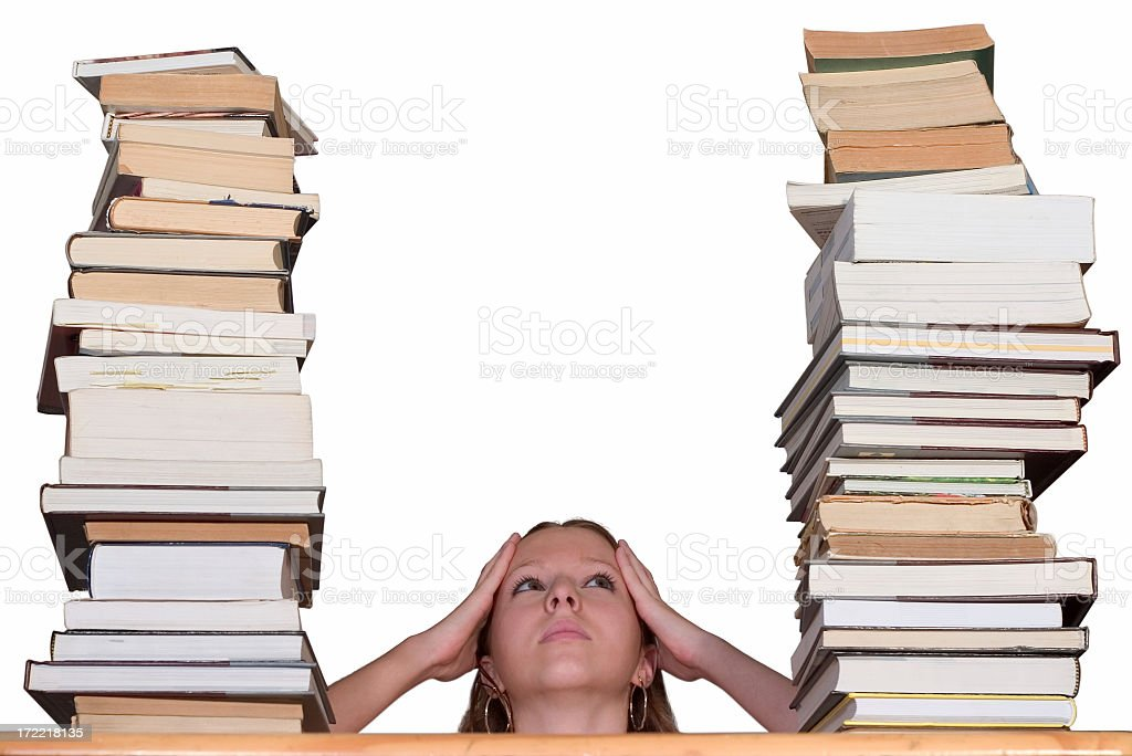 Between books royalty-free stock photo