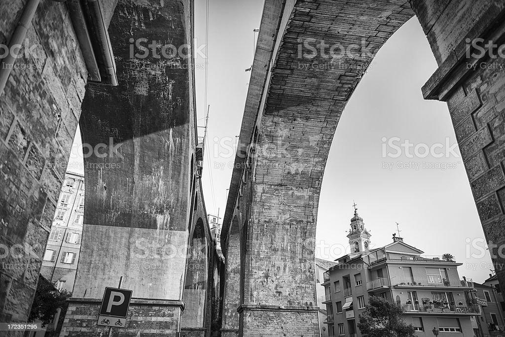 Between Bridges royalty-free stock photo