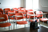 istock Between Empty Class and Corona Education 1221717862