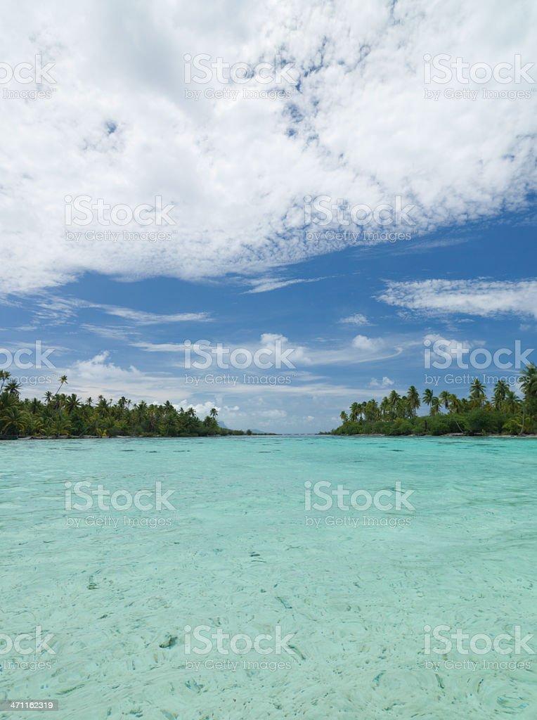 Between Islets Taha'a Island Lagoon stock photo