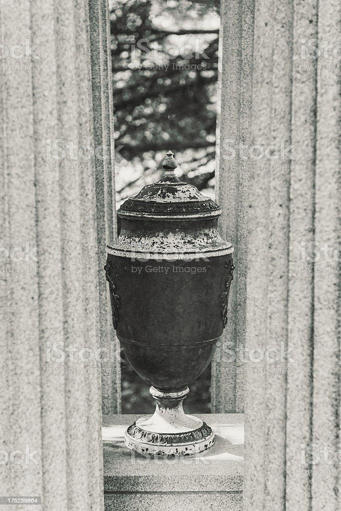 Between the Columns royalty-free stock photo