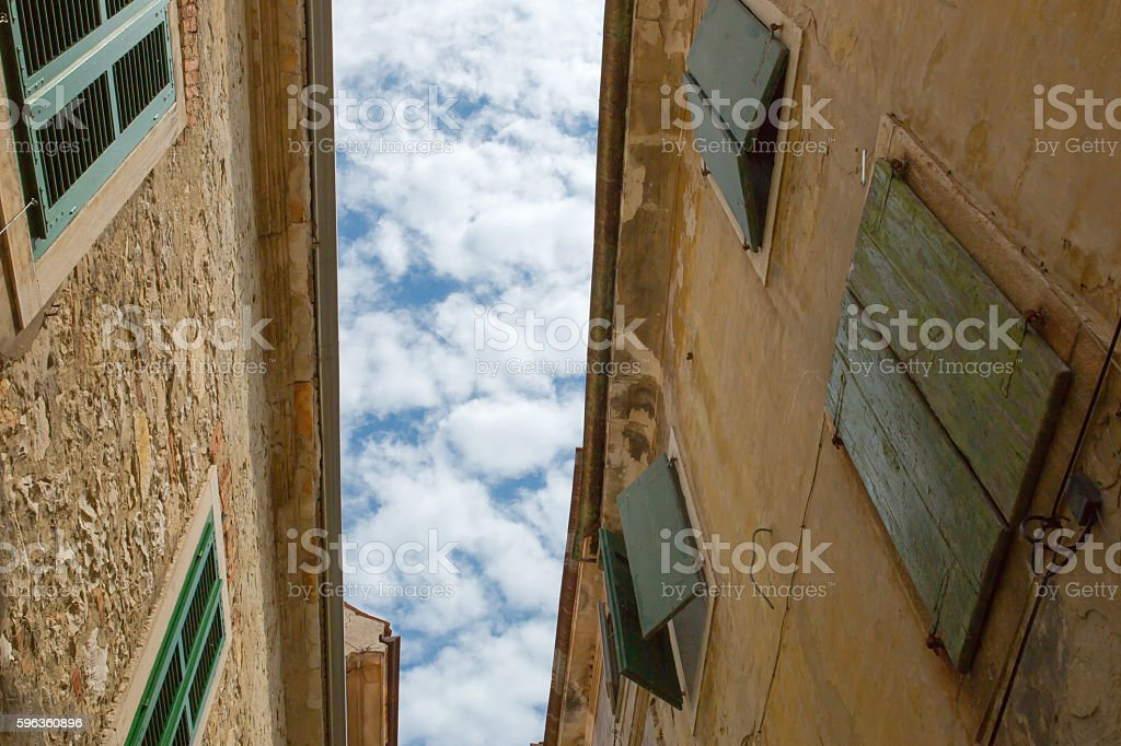 Between the Houses royalty-free stock photo