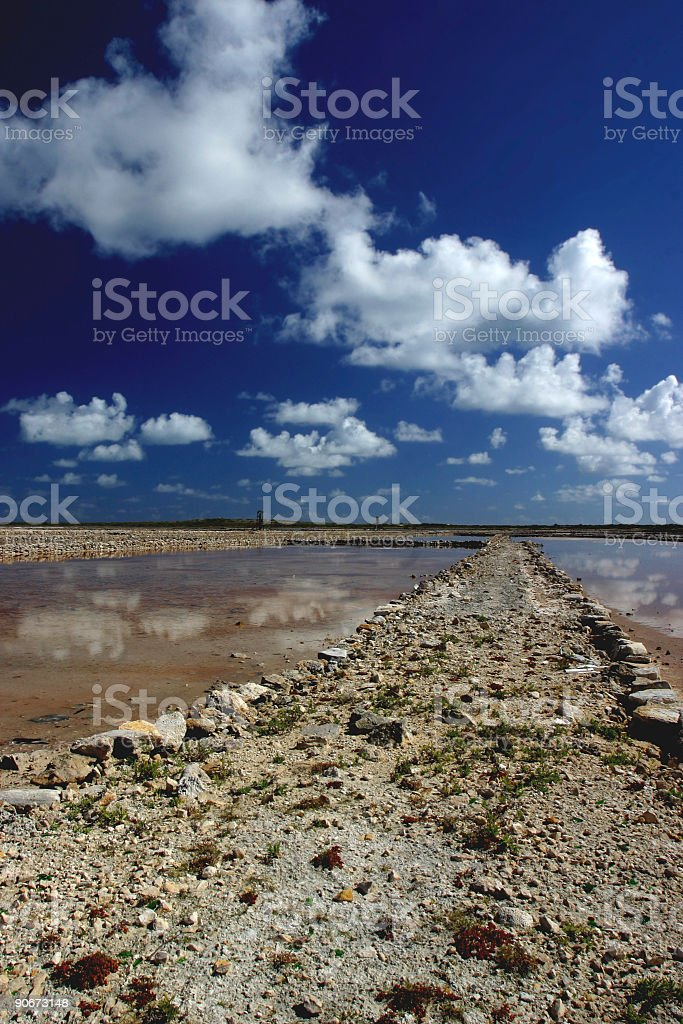 Between the Salt Ponds stock photo