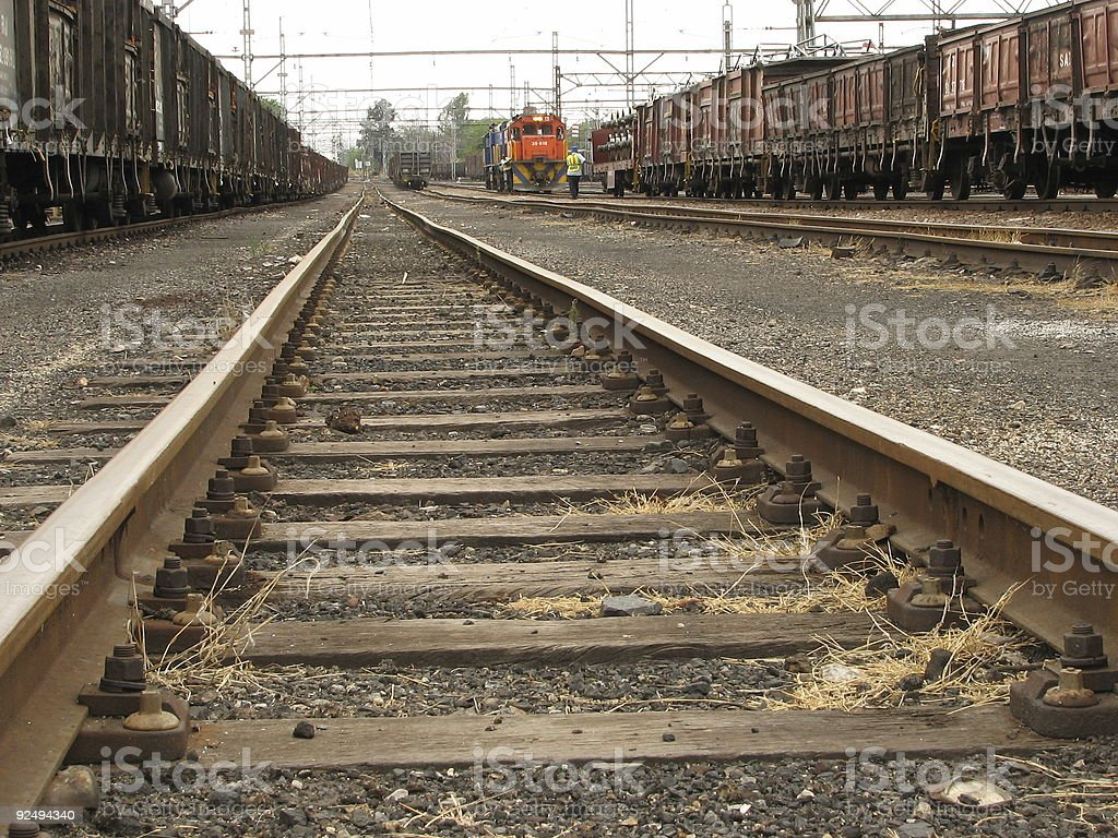 Zwischen Bahnhof LKWs Lizenzfreies stock-foto