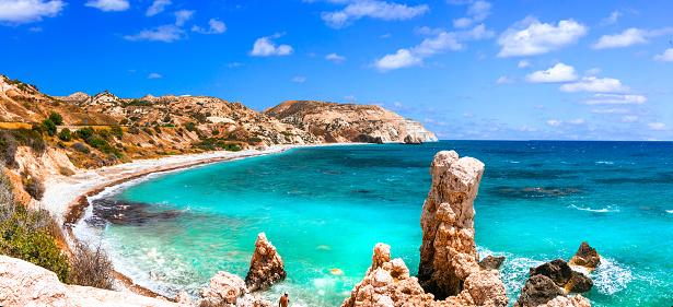 istock Beuatiful beaches of Cyprus - Petra tou Romiou, famous as a birthplace of Aphrodite 1008888674