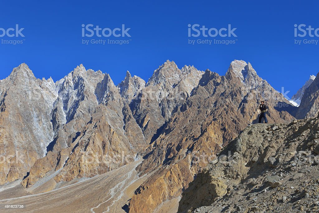 Beuatiful landscape of Northern Pakistan. Passu region. stock photo