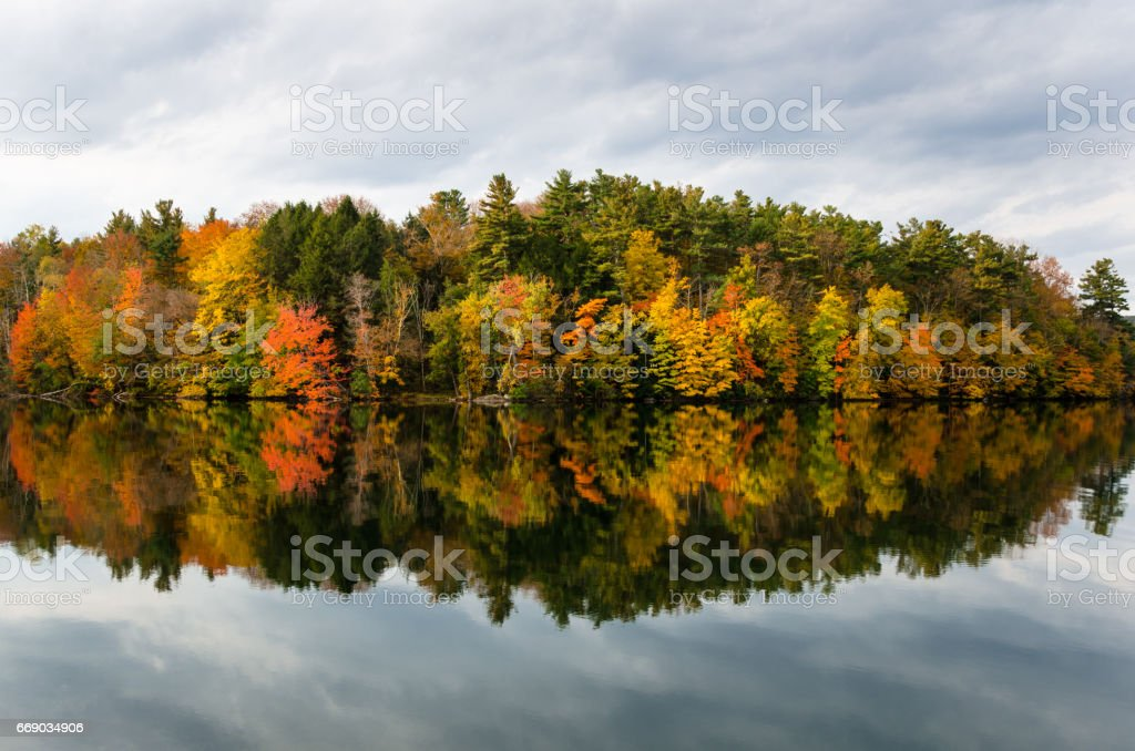 Beutiful Autumnal Reflection stock photo
