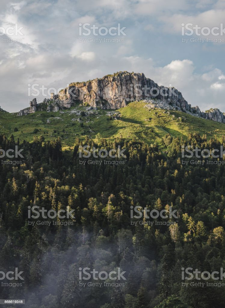 Beutiful rocky mountain stock photo