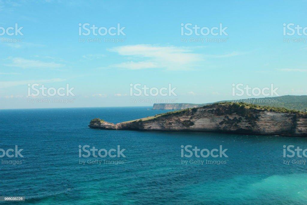 Beutiful Tanjung Aan Beach Lombok NTT Indonesien - Royaltyfri Blå Bildbanksbilder