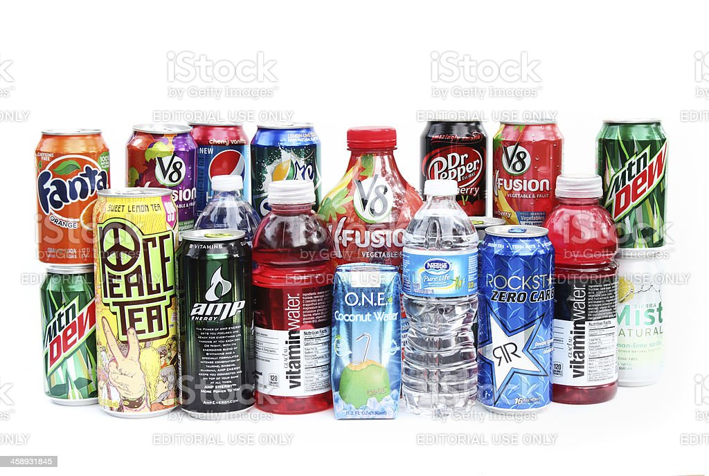 Beverage choices stock photo