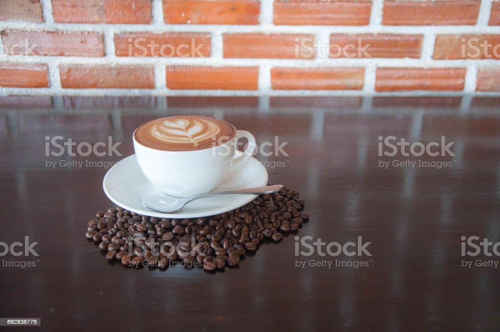 Getränke. heißen Kaffee. Latte-Kunst. Lizenzfreies stock-foto