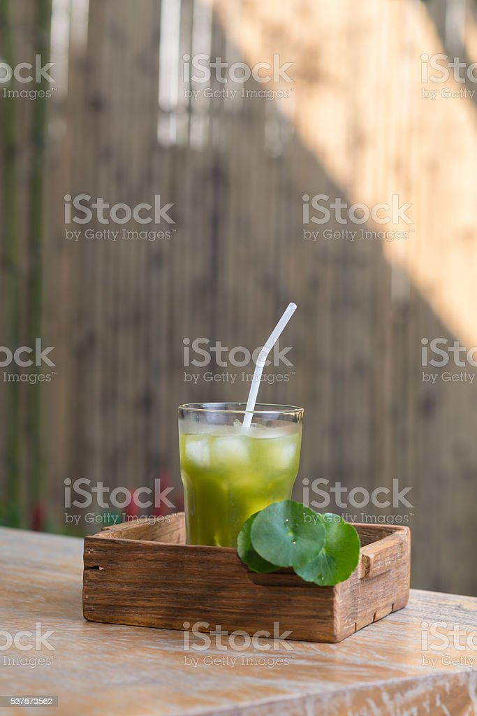 Beverage series : Asiatic pennywort juice stock photo