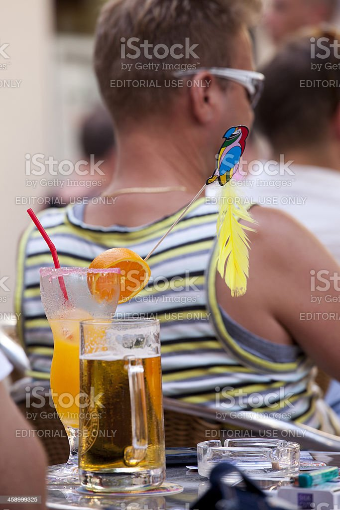 Beverages at Beach Resort royalty-free stock photo