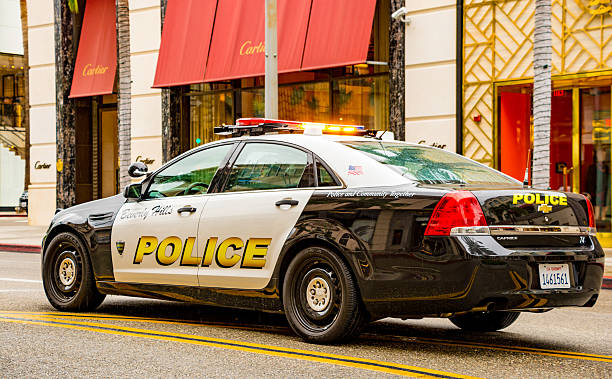 Beverley Hills Cop - Police Car stock photo