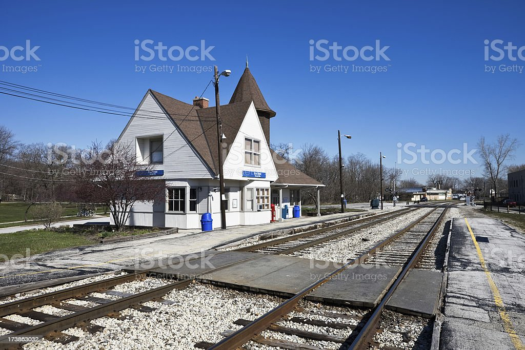 Beverley Hills Station Chicago royalty-free stock photo