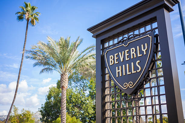 beverly hills, kalifornien, usa - beverly hills stock-fotos und bilder