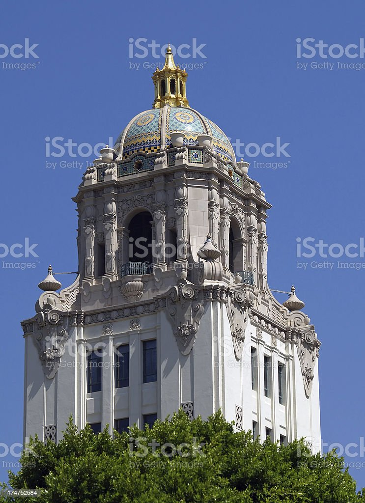 Beverly Hills city hall stock photo