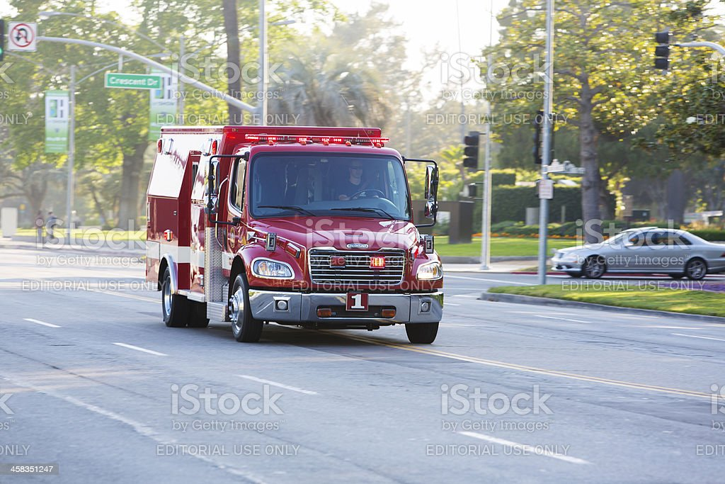 Beverly Hills Fire Paramedics stock photo