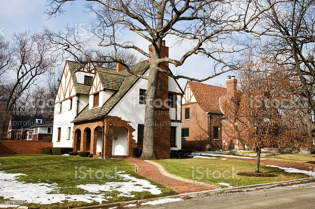 Beverly Hills Home in Chicago royalty-free stock photo