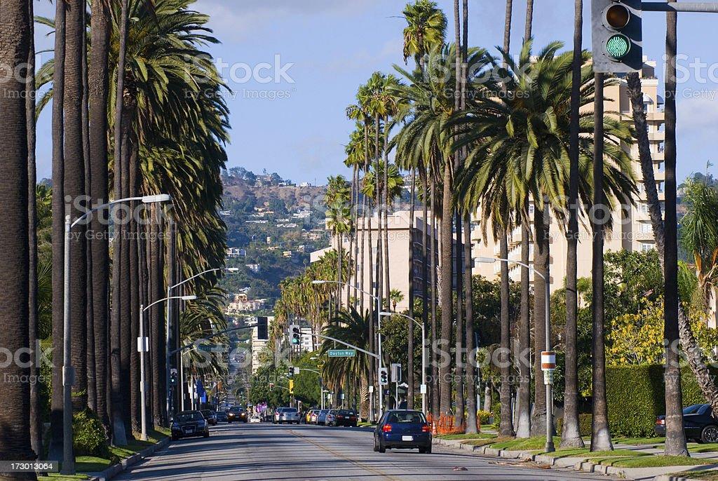 Beverly Hills Residential Scene stock photo