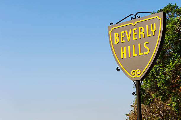 Beverly Hills shield stock photo