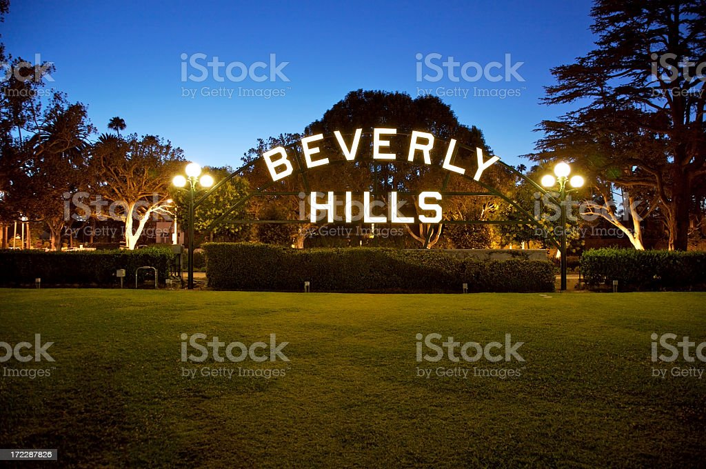 Beverly Hills sign in California royalty-free stock photo