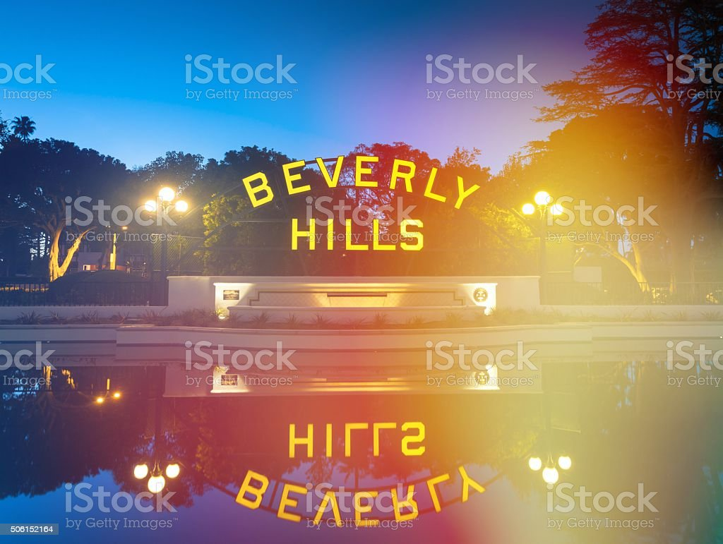 Beverly Hills Sign Los Angeles stock photo
