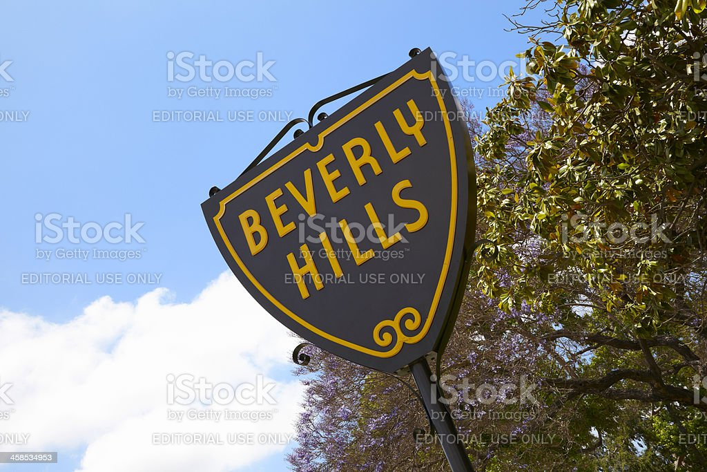 Beverly Hills Sign royalty-free stock photo