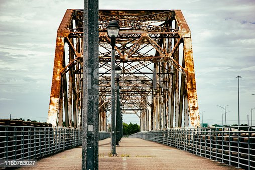 The Bevil Jarrel Memorial Bridge spanning the San Jacinto River between Humble and Kingwood, Texas located just north or downtown Houston.  This local landmark was renamed in 2011 for a beloved Humble High School teacher who died in 2003.