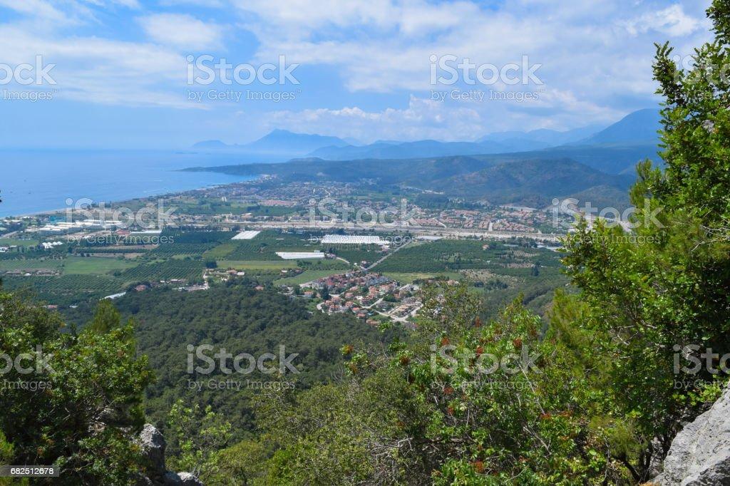 Insbesondere Coastal Nationalpark (Sahil Milli Parki - Olympos-Park). Wilde Natur der mediterranen Küstenregion der Türkei Lizenzfreies stock-foto