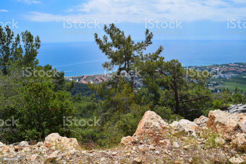 Beydaglari Coastal National Park (Sahil Milli Parki - Olympos Park). Wild nature of Mediterranean coastal region of Turkey Стоковые фото Стоковая фотография