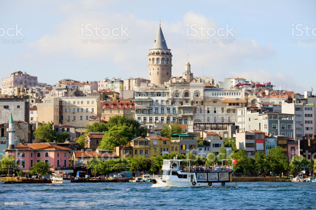Beyoglu District in City of Istanbul stock photo
