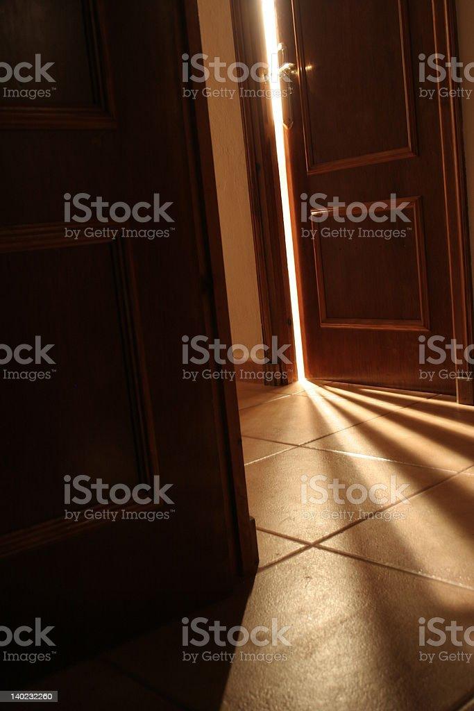 Beyond the door stock photo