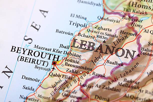 beyrouth mapa, líbano - beirut fotografías e imágenes de stock