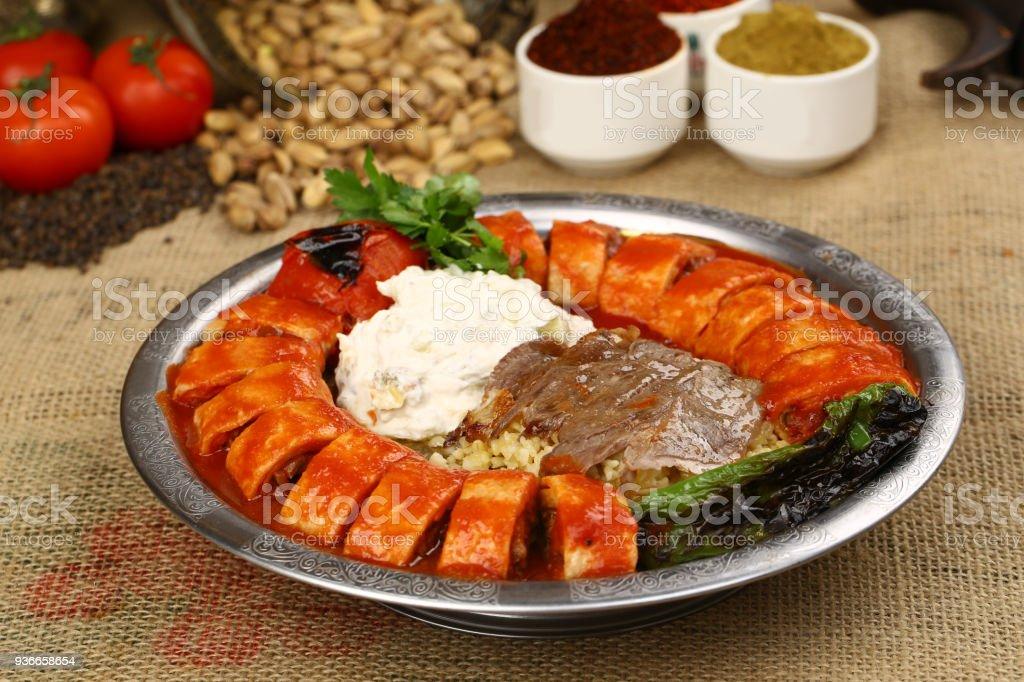 Beyti Kebap - Turkish traditional food stock photo