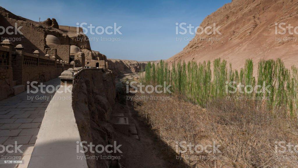 Bezeklik Thousand Buddha Caves stock photo