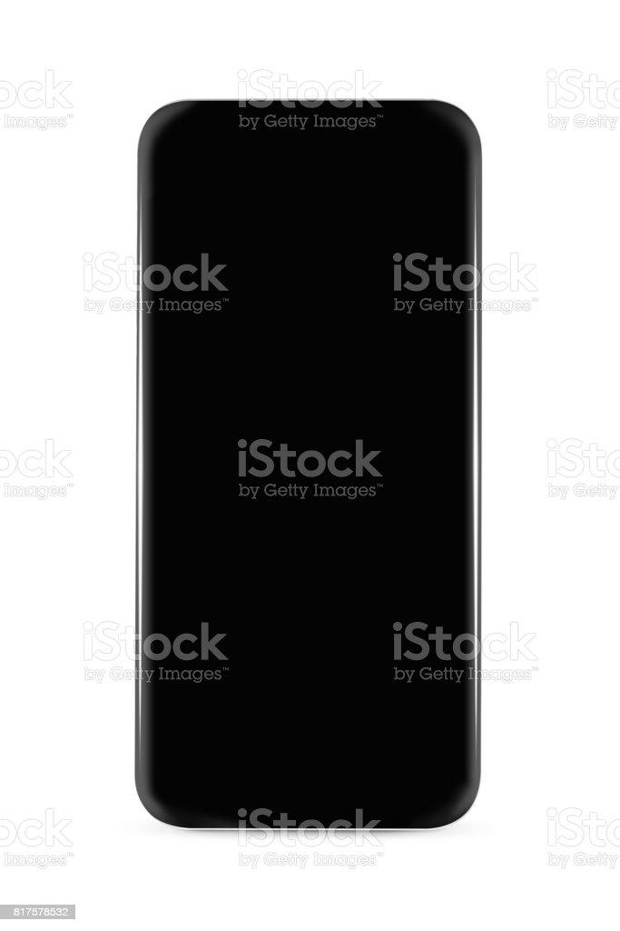 Bezel less smarphone isolated stock photo
