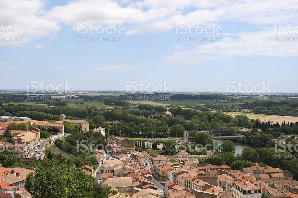 Beziers Arial View stock photo