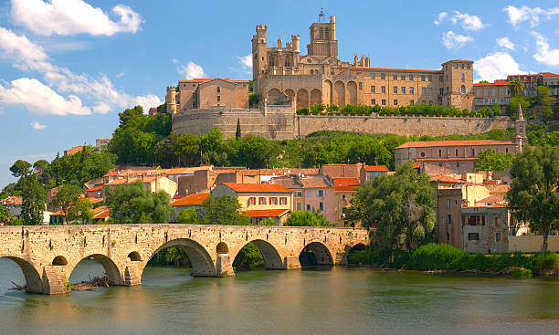 Beziers at a spring day stock photo