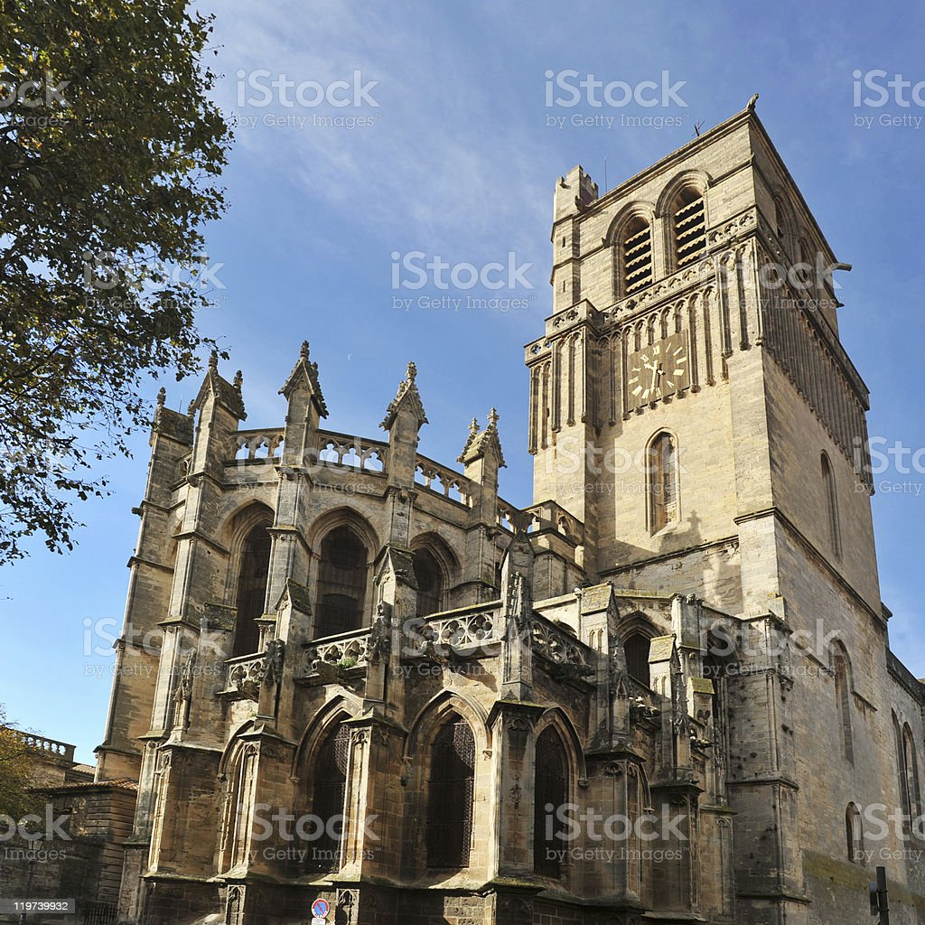Beziers cathedral stock photo