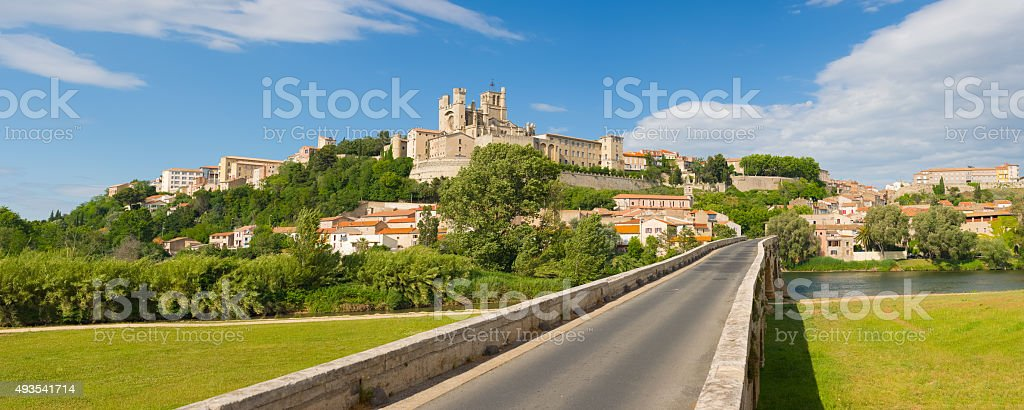 Beziers in a summer day stock photo