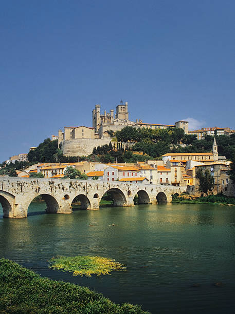 beziers stock photo