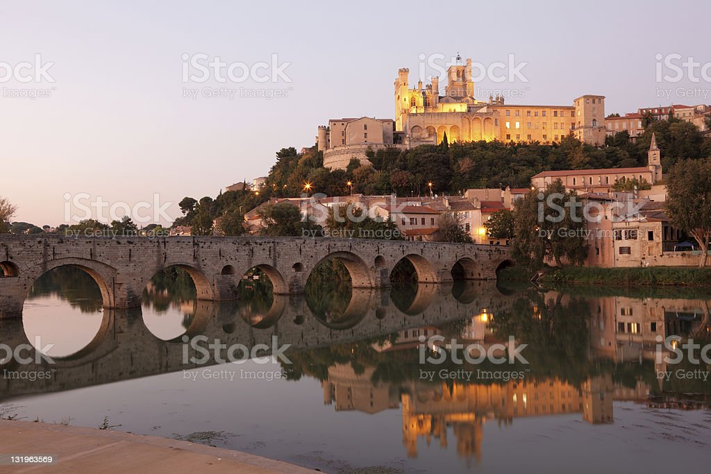 Beziers, southern France stock photo